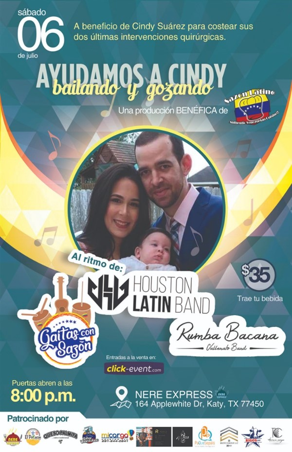 Get Information and buy tickets to Ayudemos a Cindy Bailando y Gozando Reg $35 on www.click-event.com