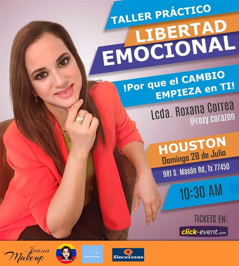 Get Information and buy tickets to Talller Practico Libertad Emocional Reg $20 on www.click-event.com