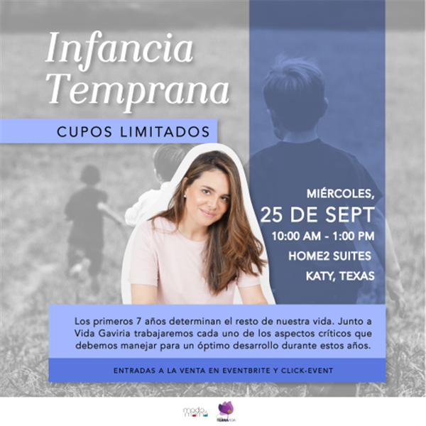 Get Information and buy tickets to Infancia Temprana Workshop para padres y educadores de niños menores de 7 años on www.click-event.com