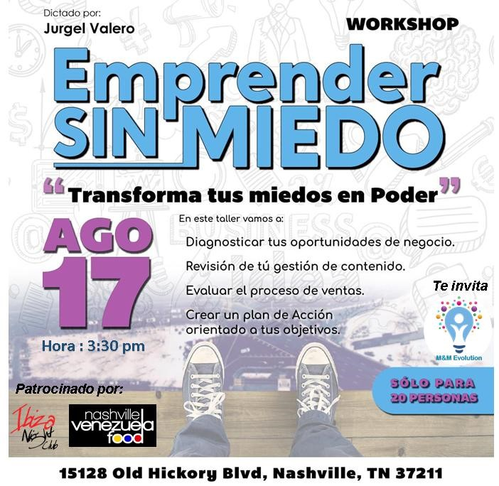 Get Information and buy tickets to Emprender Sin Miedo RSVP on www.click-event.com