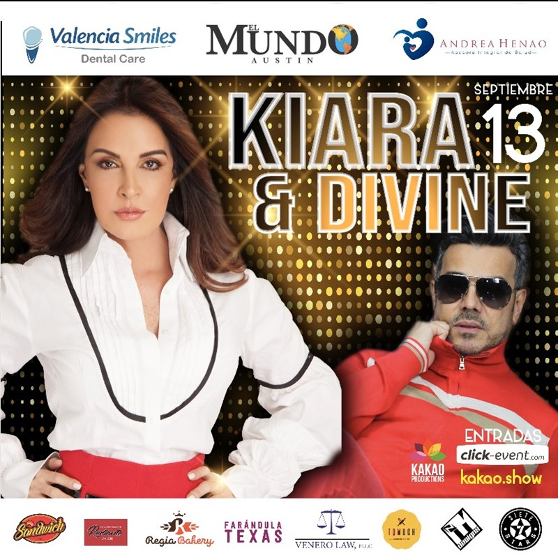 Get Information and buy tickets to Kiara y Divine en Concierto Íntimo Reg $20 - Vip $35 on www.click-event.com
