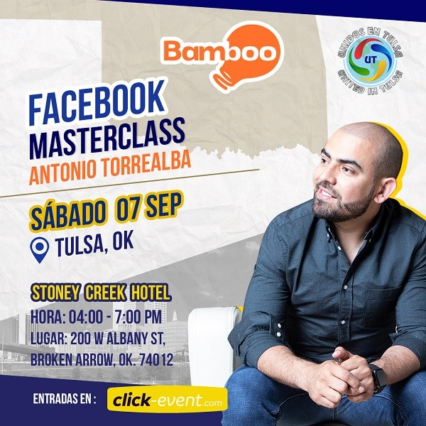 Get Information and buy tickets to Facebook Masterclass con Antonio Torrealba Reg $45 - Preventa $35 on www.click-event.com