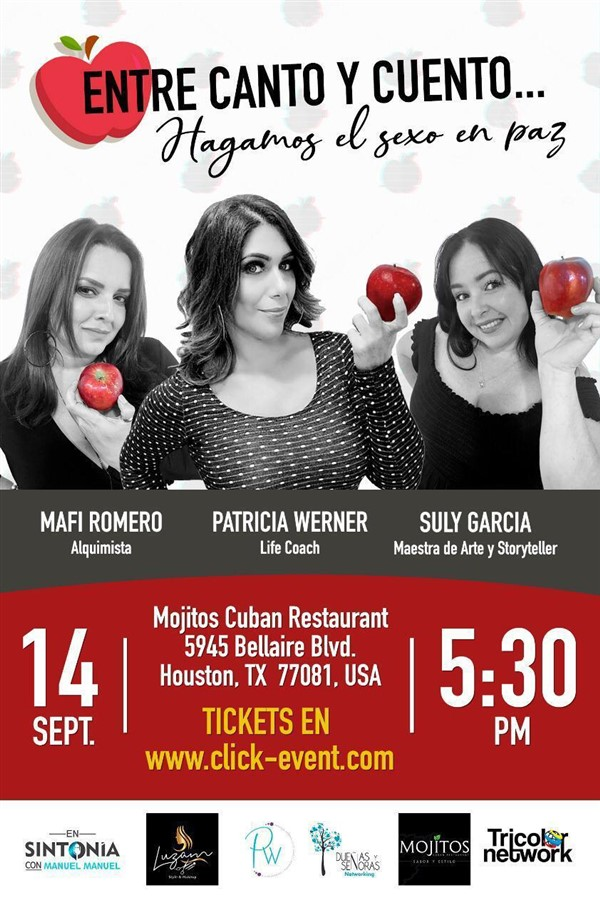 Get Information and buy tickets to Entre Canto y Cuento Hagamos el Sexo en Paz  - Reg $30 on www.click-event.com