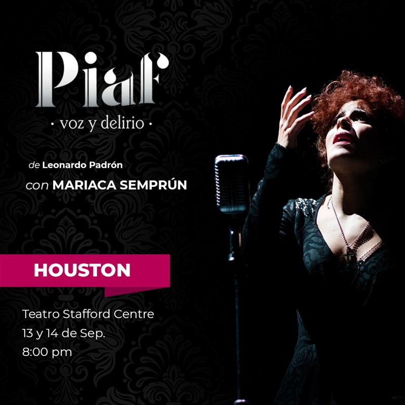 Get Information and buy tickets to Piaf - Voz y Delirio Balcony $50 - Orchestra $90 - Vip $100 - Gold $120 on www.click-event.com