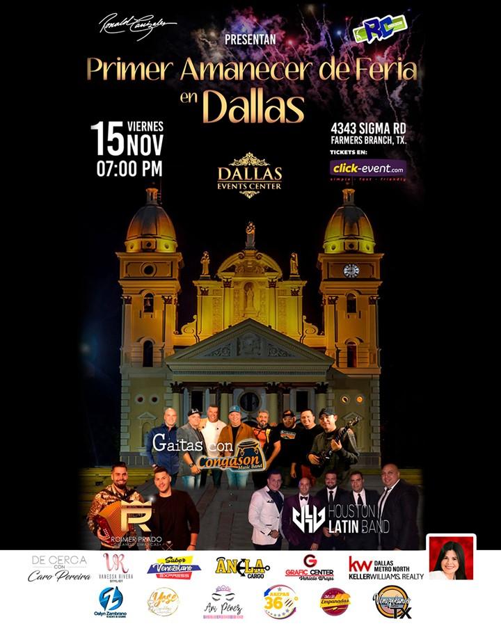 Get Information and buy tickets to Primer Amanecer de Feria en Dallas General $25, Reg $40, Vip $60 on www.click-event.com