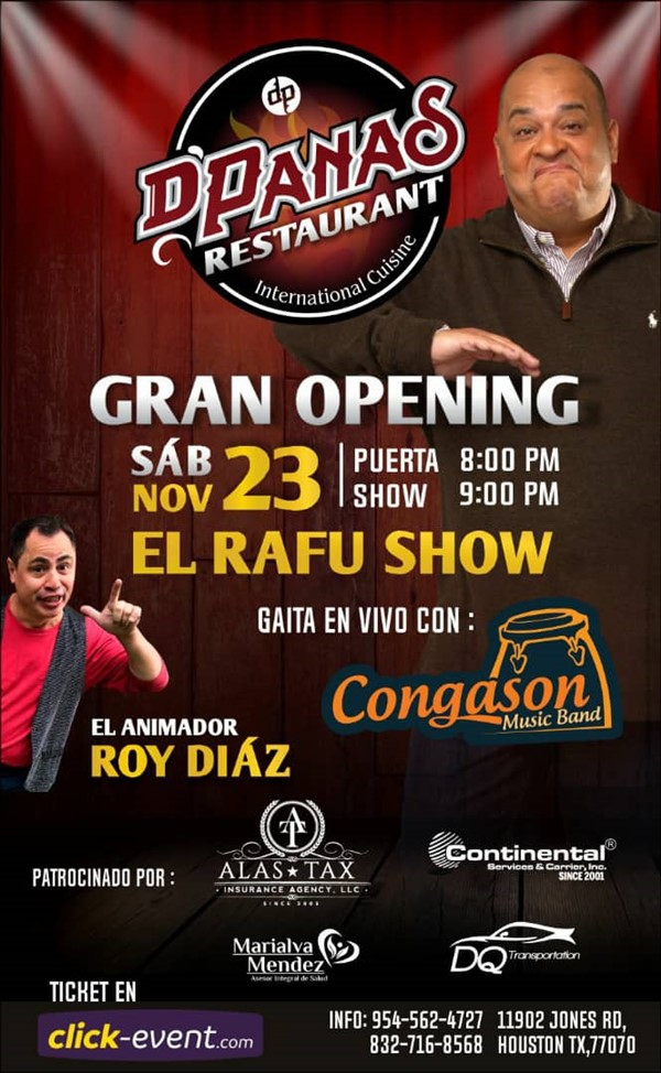 Get Information and buy tickets to El Rafu Show Reg 2 $30 - Reg $35 - Vip $40 on www.click-event.com