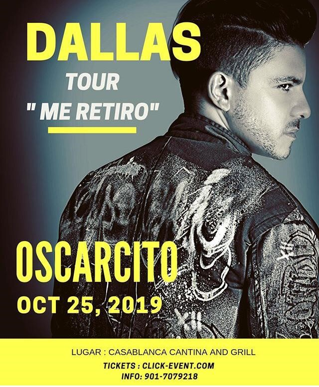 Get Information and buy tickets to Oscarcito - Dallas TX Reg $30 on www.click-event.com