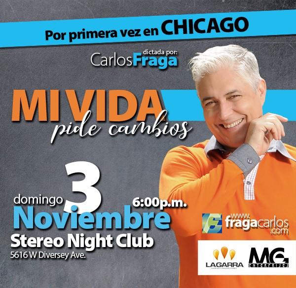 """Get Information and buy tickets to Conferencia """"Mi vida pide cambios"""" - Carlos Fraga Chicago IL, Reg $30 on www.click-event.com"""