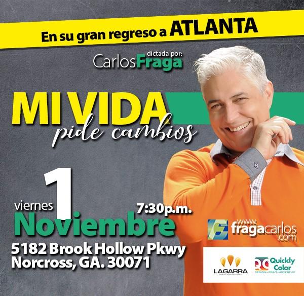 """Get Information and buy tickets to Conferencia """"Mi vida pide cambios"""" - Carlos Fraga Atlanta GA, Reg $40 on www.click-event.com"""