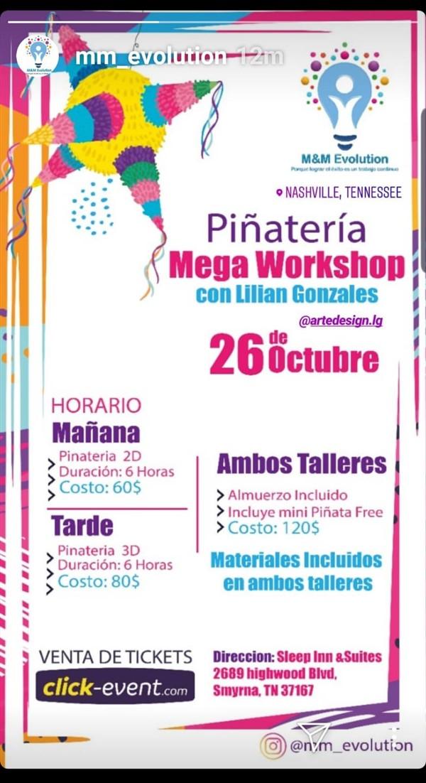 Get Information and buy tickets to Piñateria Mega Workshop con Lilian Gonzales Piñata 2D Reg $60 - Piñata 3D $80 on www.click-event.com