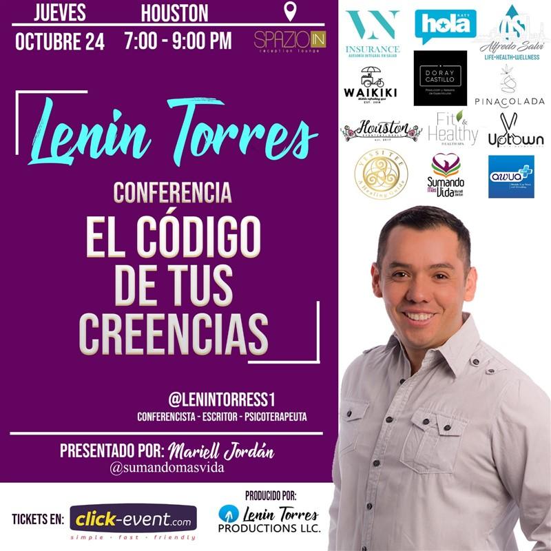 Get Information and buy tickets to El Codigo de tus Creencias - Lenin Torres Reg $45 on www.click-event.com