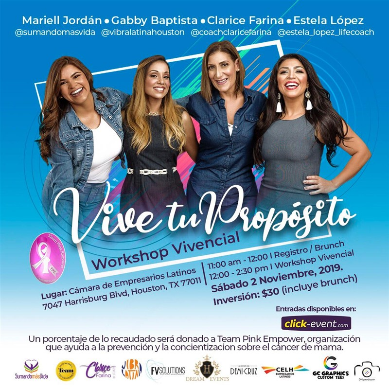 Get Information and buy tickets to Vive tu Proposito - Workshop Vivencial Reg $30 on www.click-event.com