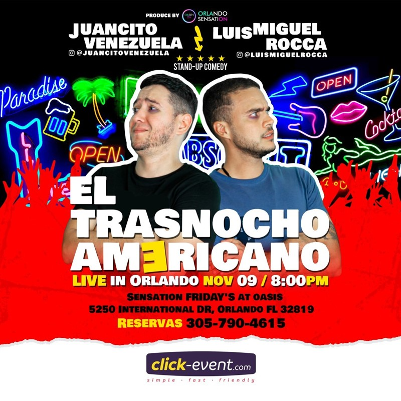 Get Information and buy tickets to El Trasnocho Americano Stand Up Reg $15 on www.click-event.com