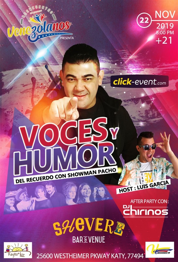Get Information and buy tickets to Voces y Humor con Showman Pacho  on www.click-event.com