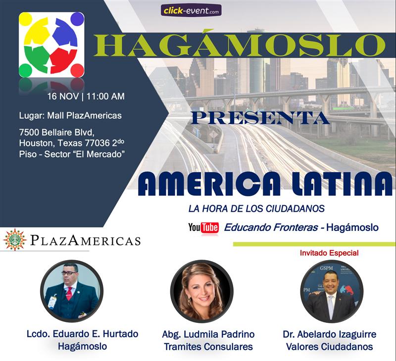Get Information and buy tickets to America Latina - La hora de los ciudadanos RSVP on www.click-event.com