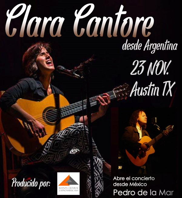 Get Information and buy tickets to Clara Cantore en concierto Reg $15 on www.click-event.com