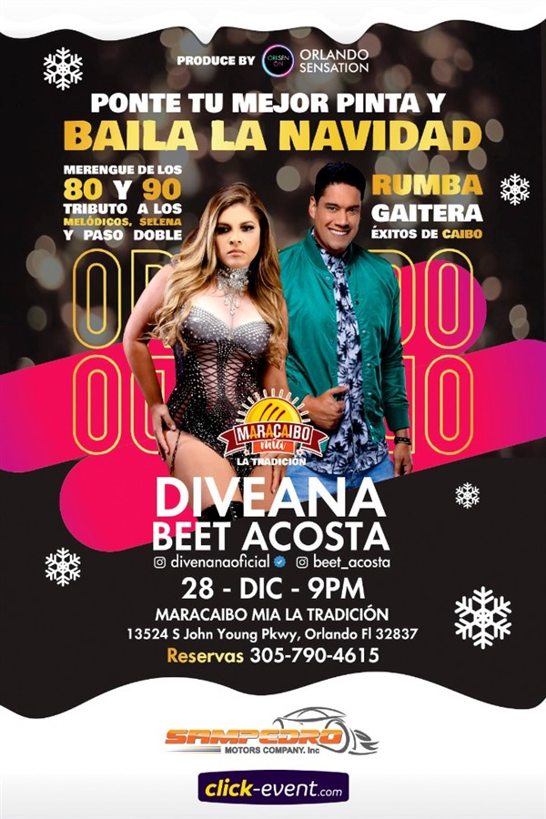 Get Information and buy tickets to Baila la Navidad con Diveana y Beet Acosta Reg $40 on www.click-event.com