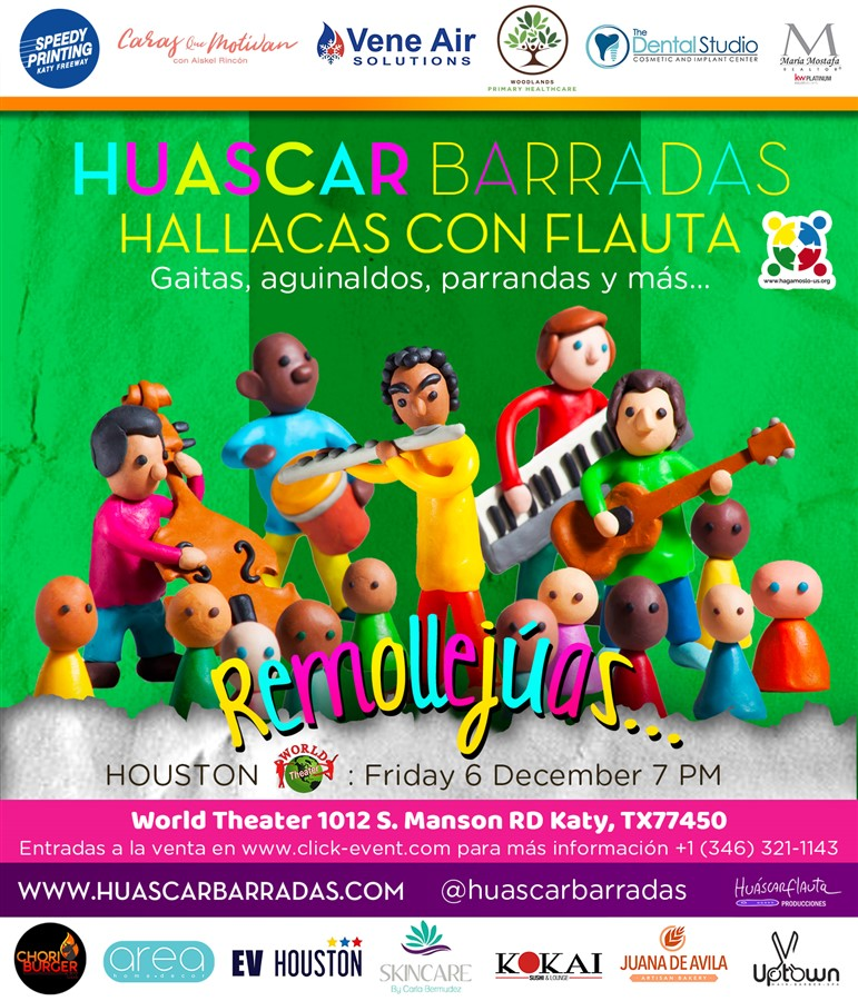 Get Information and buy tickets to Hallacas con Flauta - Huascar Barradas Reg Niños $20, Reg Adutos $25 on www.click-event.com