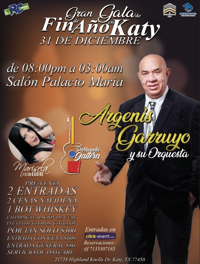 Get Information and buy tickets to Gran Gala de Fin de Año en Katy TX Reg $80 on www.click-event.com