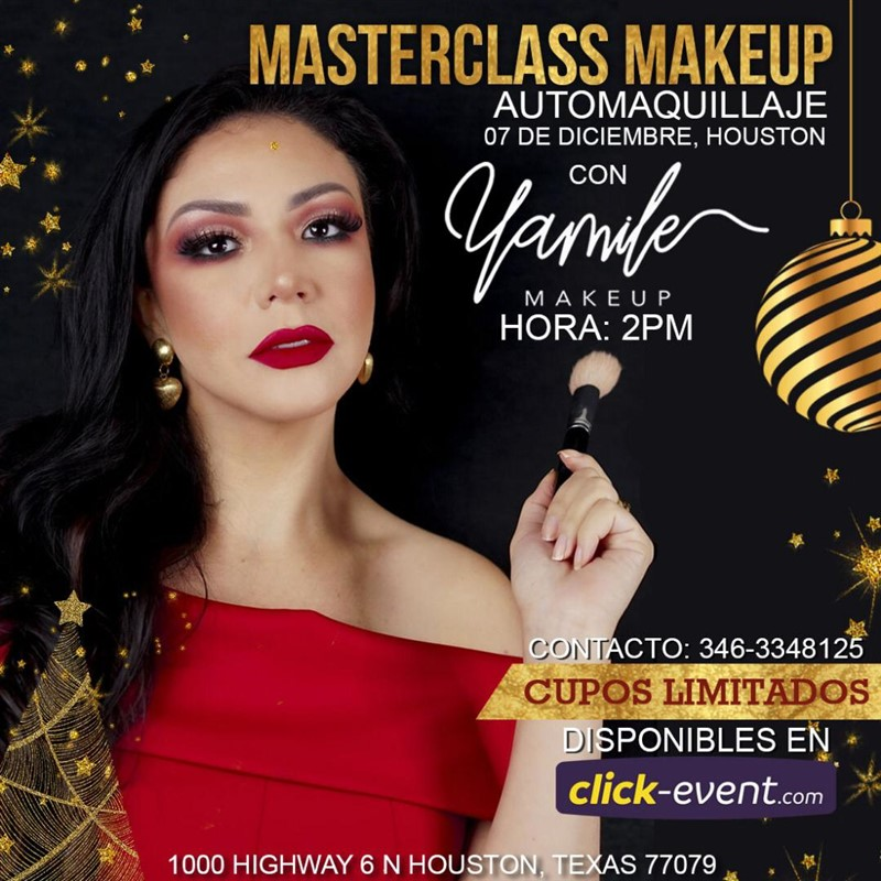 Get Information and buy tickets to MasterClass MakeUp con Yamile Makeup Vip $350 on www.click-event.com