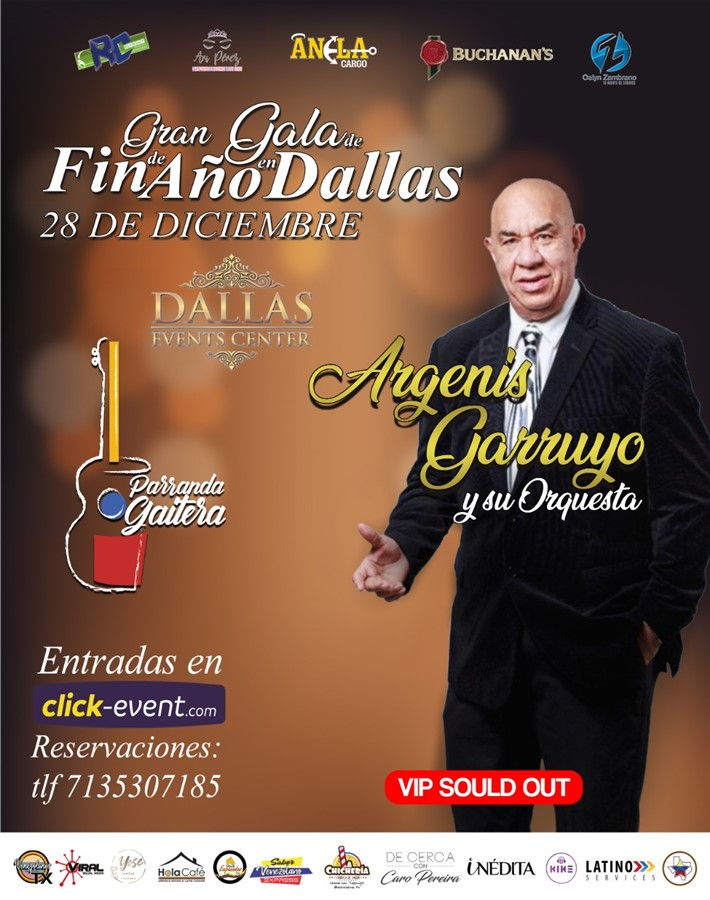 Get Information and buy tickets to Gran Gala de Fin de Año en Dallas TX General $30 - Reg $40 - Vip $60 on www.click-event.com