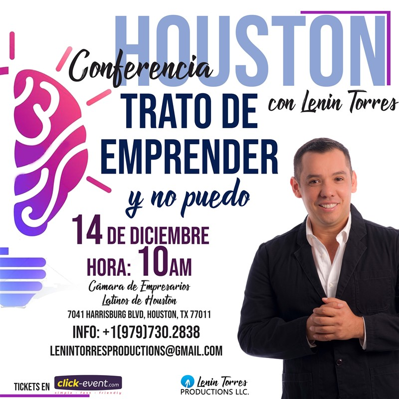 Get Information and buy tickets to Conferencia. Trato de Emprender y no Puedo Reg $45 on www.click-event.com