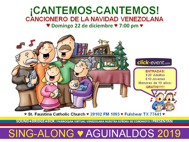 Get Information and buy tickets to Cantemos Cantemos - Fulshear TX - Santa Faustina Adultos $20, Jóvenes $10, Niños (0 a 9 años) Gratis on www.click-event.com