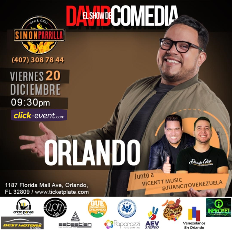 Get Information and buy tickets to El Show de David Comedia - Orlando FL Reg $25 - Vip $35 on www.click-event.com