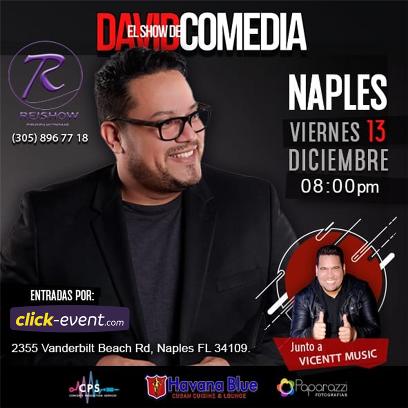Get Information and buy tickets to El Show de David Comedia - Naples FL Reg $25 on www.click-event.com
