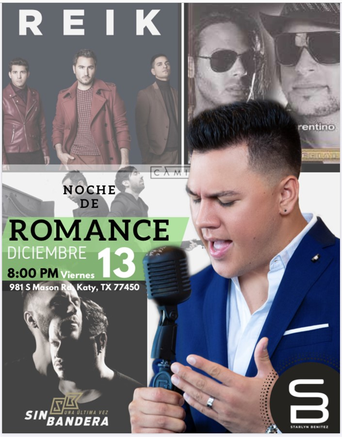 Get Information and buy tickets to Noche de Romance - STARLYN BENITEZ  on www.click-event.com