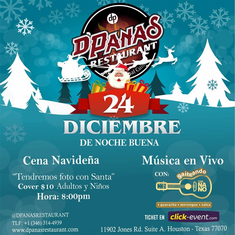 Get Information and buy tickets to 24 de Diciembre de Noche Buena Cover $10 on www.click-event.com