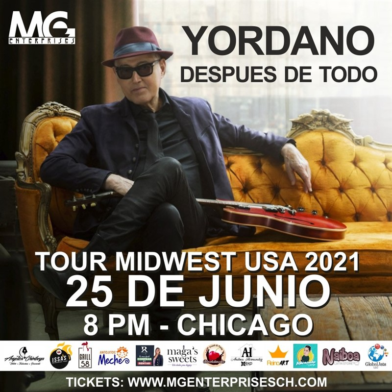 Get Information and buy tickets to Yordano Tour Midwest - Chicago IL  on www.click-event.com