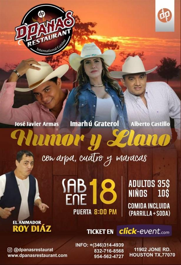 Get Information and buy tickets to Humor y Llano - Houston TX Reg 35$ Niños $10 on www.click-event.com