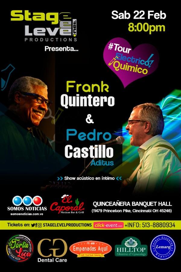 Get Information and buy tickets to Frank Quintero & Pedro Castillo #CINCINNATI #Ohio Reg $40 - Vip $50 on www.click-event.com