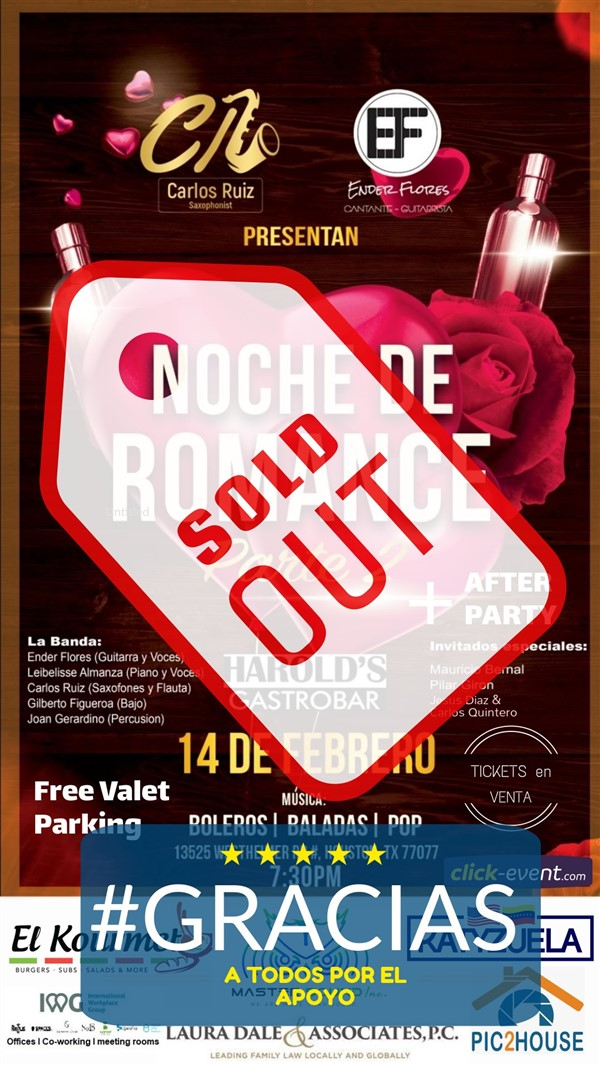 Get Information and buy tickets to Noche de Romance 2 + After Party on www.click-event.com