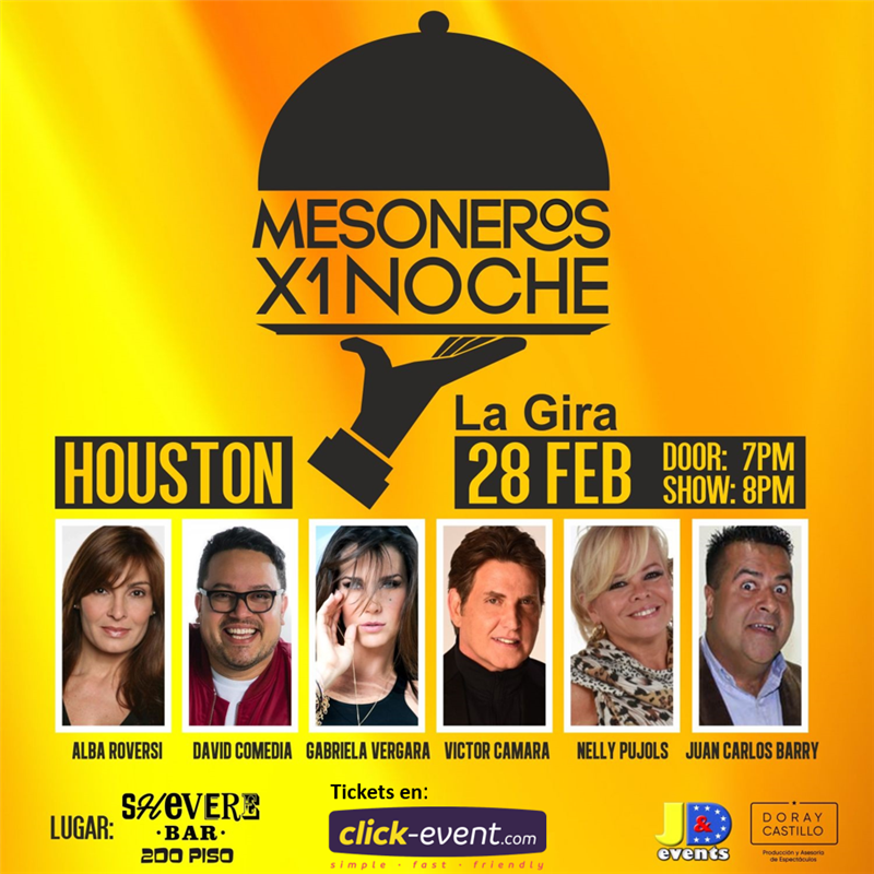 Get Information and buy tickets to Mesoneros x 1 Noche Preventa Reg $45 - Vip $65 on www.click-event.com