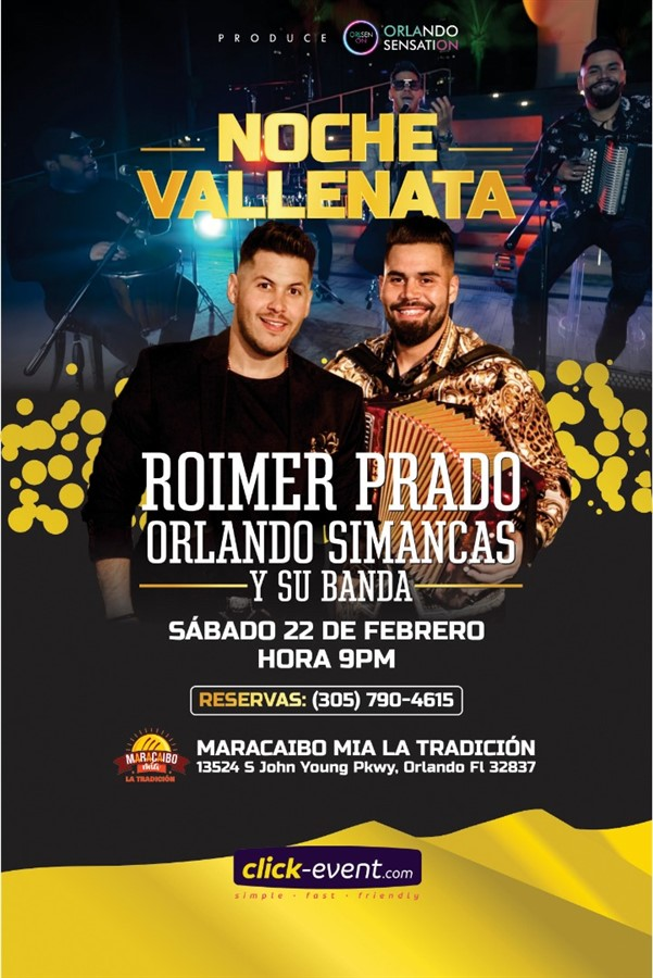 Get Information and buy tickets to ROIMER PRADO NOCHE VALENATA on www.click-event.com