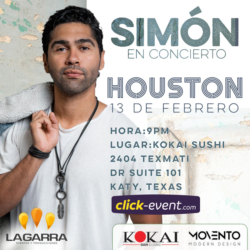 Get Information and buy tickets to Simon en Concierto GA $35 - GA + Kokai $45 on www.click-event.com