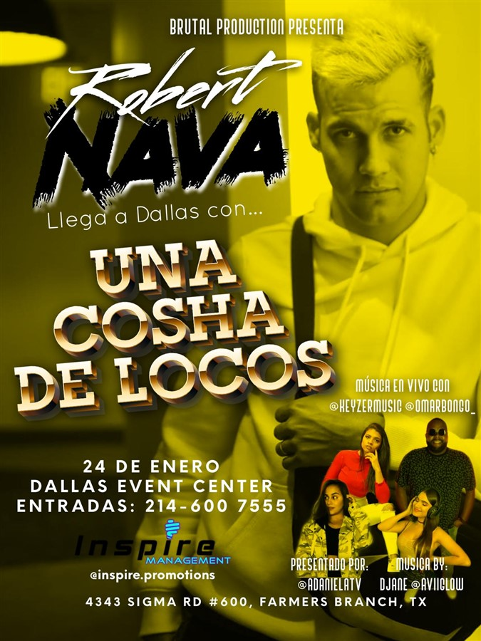 Get Information and buy tickets to Robert Nava - Dallas TX General $20 - Reg 2 $25 - Reg $30 - Vip $35 on www.click-event.com
