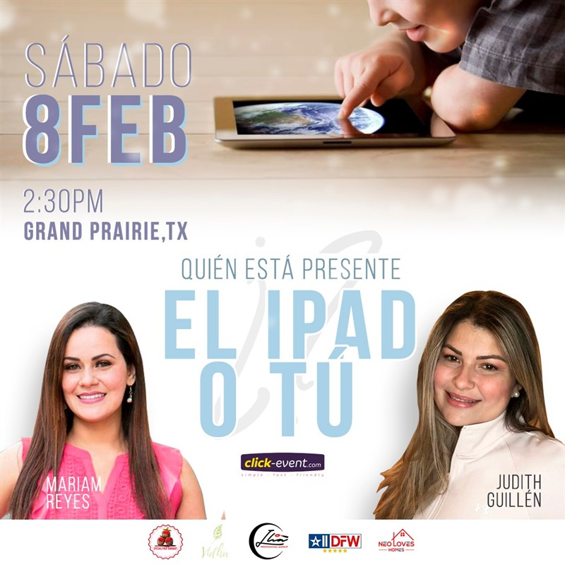 Get Information and buy tickets to ¿Quién está presente, el IPad o tú? Reg 2 $5 - Reg $10 on www.click-event.com