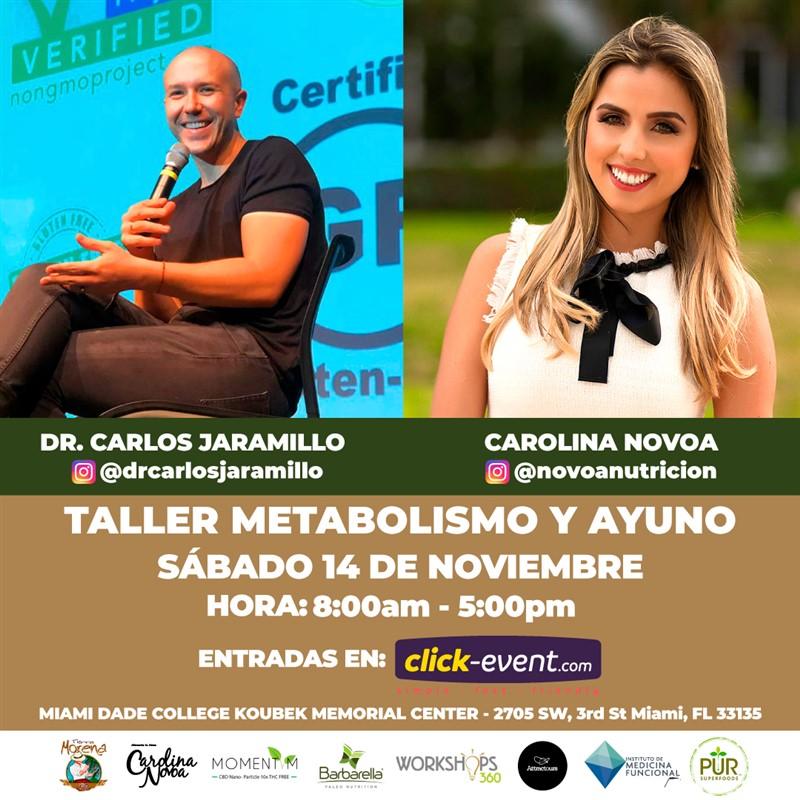 Get Information and buy tickets to Taller: Metabolismo y Ayuno - Miami FL Inversión $200 on www.click-event.com