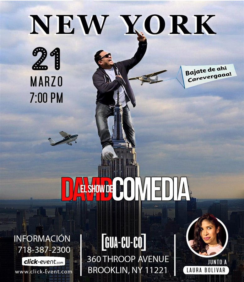 Get Information and buy tickets to El Show de David Comedia junto a Laura - New York Reg $25 on www.click-event.com