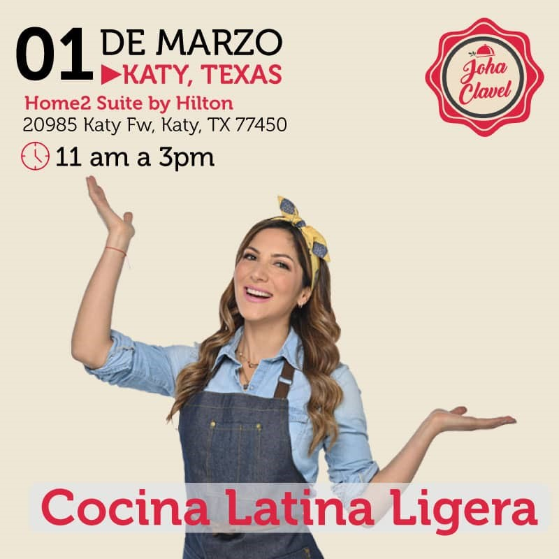 Get Information and buy tickets to Cocina Latina Ligera - Johana Clavel - Houston Preventa Reg $60 - Vip $80 on www.click-event.com