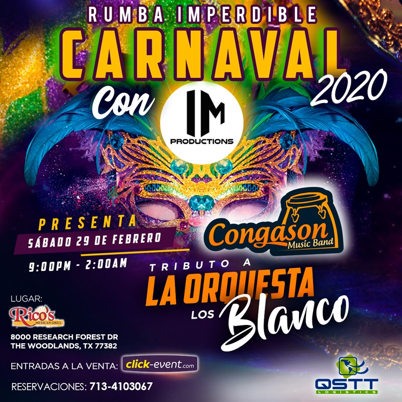 Get Information and buy tickets to Rumba Imperdible Carnaval Preventa Reg $10 on www.click-event.com