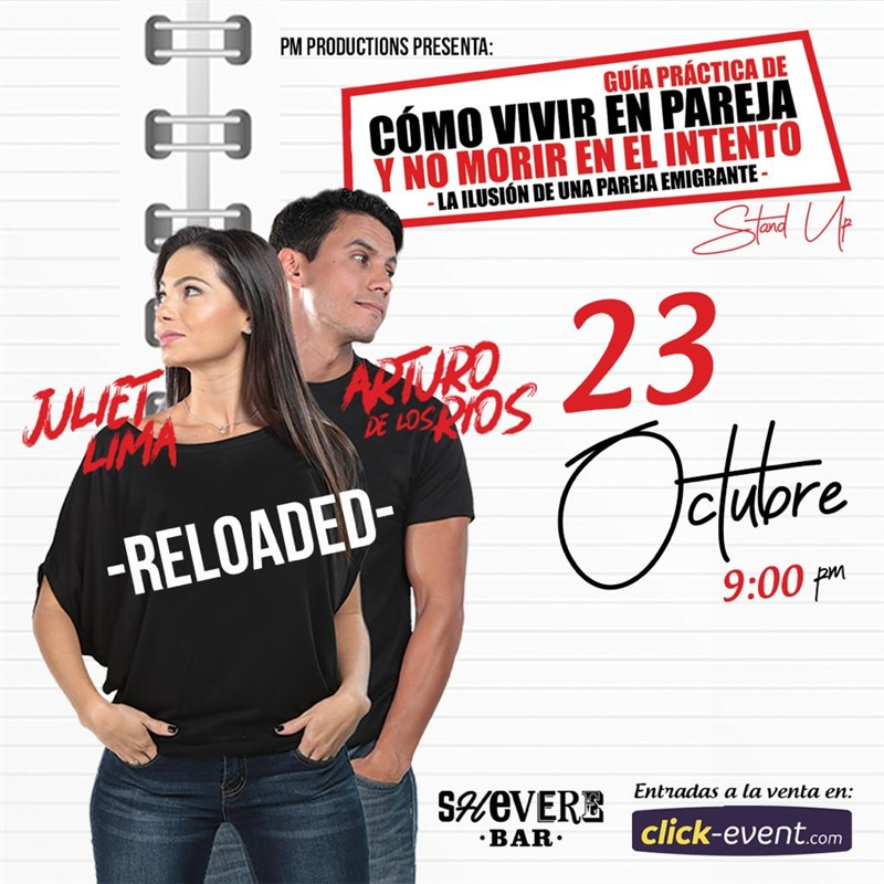 Get Information and buy tickets to Como vivir en Pareja y no morir en el intento - Houston TX Juliet Lima - Arturo de los Rios - Reg $20 - Vip $25 on www.click-event.com