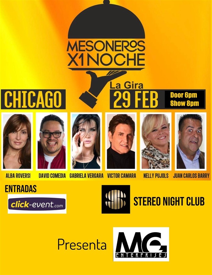 Get Information and buy tickets to Mesoneros x 1 Noche - Chicago IL Preventa Reg $50 on www.click-event.com