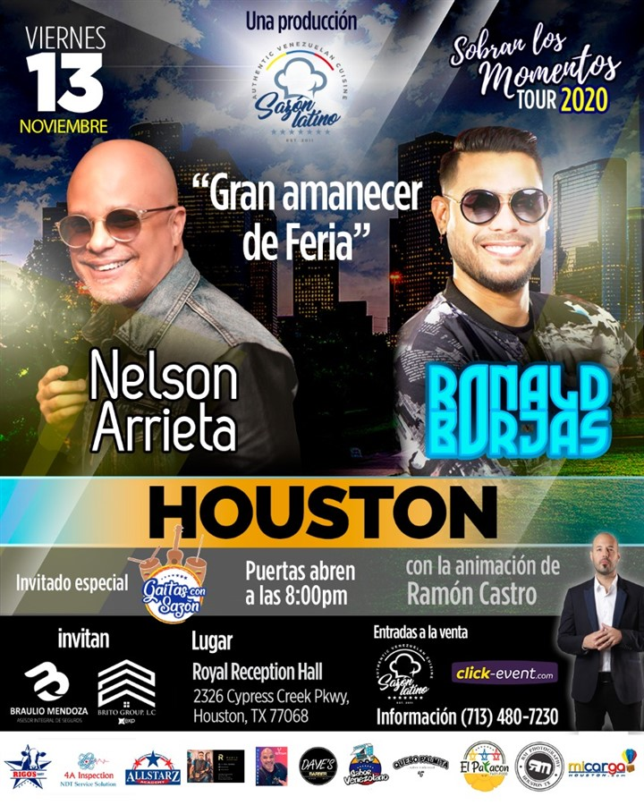 Get Information and buy tickets to Sobran los Momentos - Nelson Arrieta & Ronald Borjas Reg 2 $55 - Reg $65 - Vip $70 on www.click-event.com
