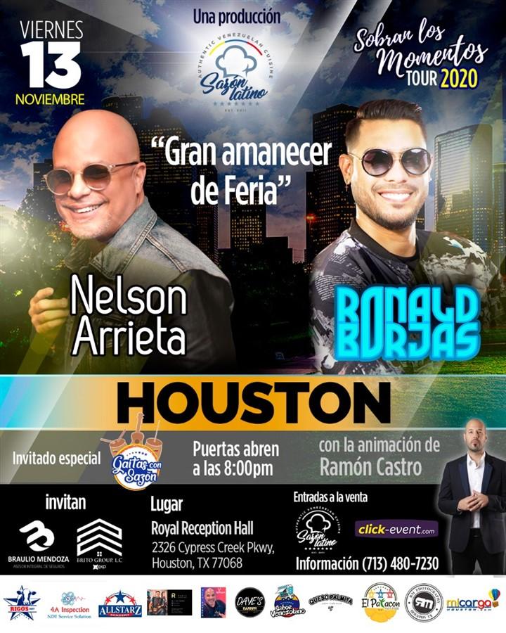 Obtener información y comprar entradas para Sobran los Momentos - Nelson Arrieta & Ronald Borjas Reg 2 $55 - Reg $65 - Vip $70 en www.click-event.com.