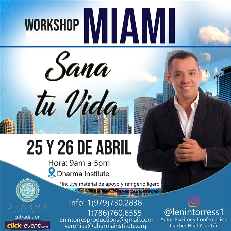 Get Information and buy tickets to Workshop Sana tu Vida con Lenin Torres on www.click-event.com