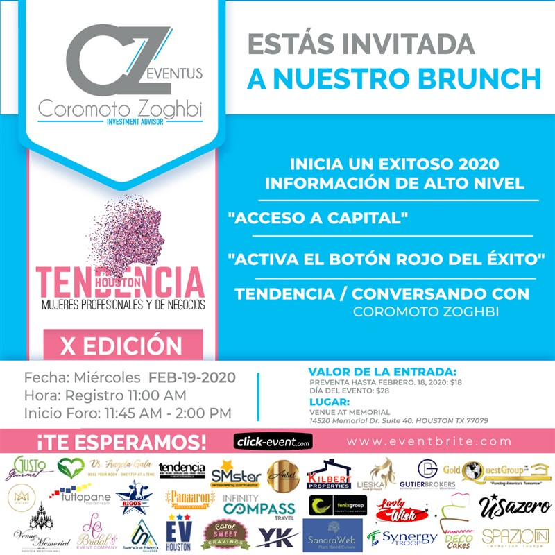Get Information and buy tickets to Tendencia Houston - Mujeres Profesionales y de Negocios Preventa $18 on www.click-event.com